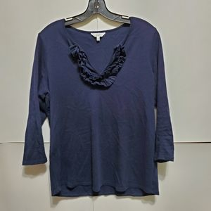 Crown and Ivy Blouse EUC size Medium Blue